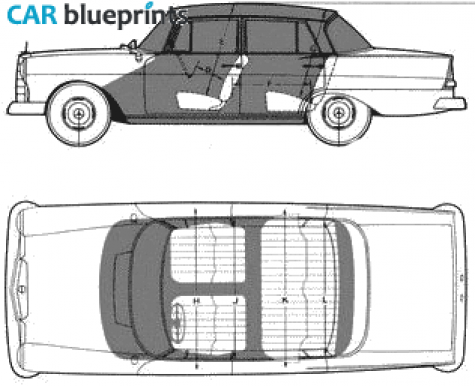 Car blueprints mercedes benz w110 190d blueprints for Mercedes benz 1900 model