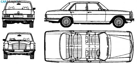 Car blueprints mercedes benz e class w114 280e blueprints 1973 mercedes benz e class w114 280e sedan blueprint malvernweather Choice Image