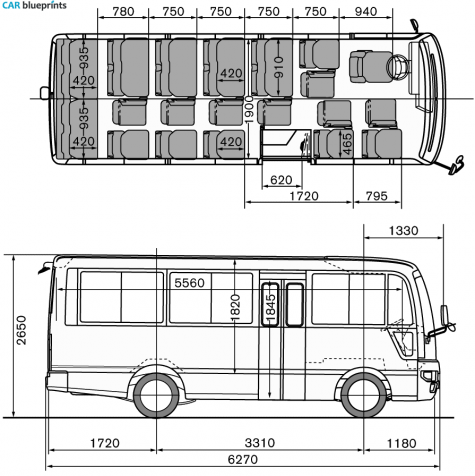 Car blueprints nissan civilian standard body 26 persones 2008 nissan civilian standard body 26 persones bus blueprint malvernweather Gallery