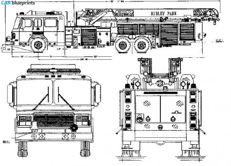 Car blueprints other fire blueprints vector drawings for Blueprint size prints