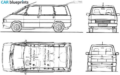 car blueprints renault espace blueprints vector drawings clipart and pdf templates. Black Bedroom Furniture Sets. Home Design Ideas