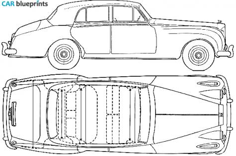 Car blueprints rolls royce silver cloud blueprints vector 1955 rolls royce silver cloud sedan blueprint malvernweather Choice Image