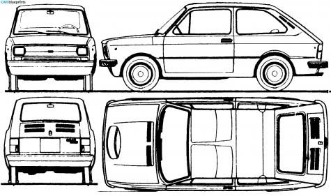 Car blueprints seat 133 blueprints vector drawings clipart and 1974 seat 133 hatchback blueprint malvernweather Images