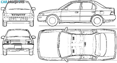 Car blueprints toyota corolla blueprints vector for Blueprint size prints