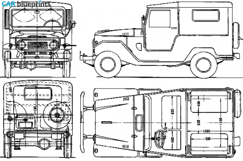 Car blueprints toyota land cruiser fj40lv blueprints vector 1963 toyota land cruiser fj40lv suv blueprint malvernweather Gallery