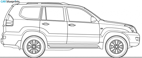 Car Blueprints Toyota Land Cruiser Prado Blueprints Vector