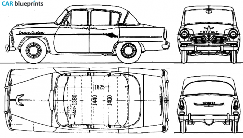 Car Blueprints Toyota Toyopet Crown Custom Blueprints Vector