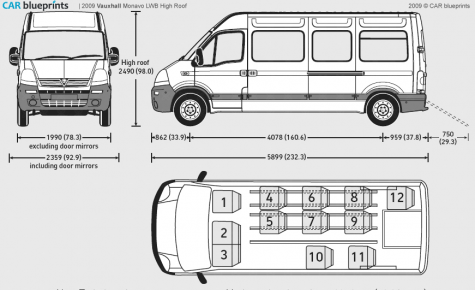 car blueprints vauxhall movano lwb high roof blueprints vector drawings clipart and pdf. Black Bedroom Furniture Sets. Home Design Ideas