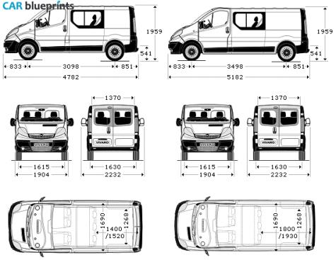 car blueprints vauxhall vivaro double cab blueprints. Black Bedroom Furniture Sets. Home Design Ideas