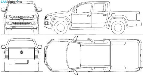 Car blueprints volkswagen amarok crew cab blueprints vector 2010 volkswagen amarok crew cab pick up blueprint malvernweather Gallery
