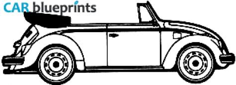 CAR blueprints - Volkswagen Beetle 1300 blueprints, vector ...