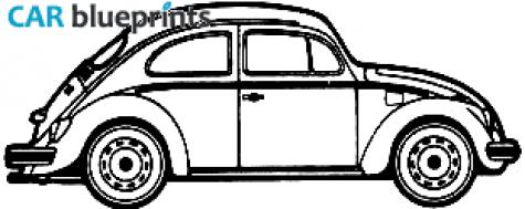 CAR blueprints - Volkswagen Beetle blueprints, vector drawings ...