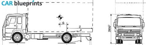 Car blueprints volvo fl7 285 4x2 18t blueprints vector for Florida blueprint